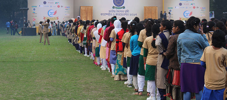 Adolescent girls rally to improve nutrition in Bangladesh