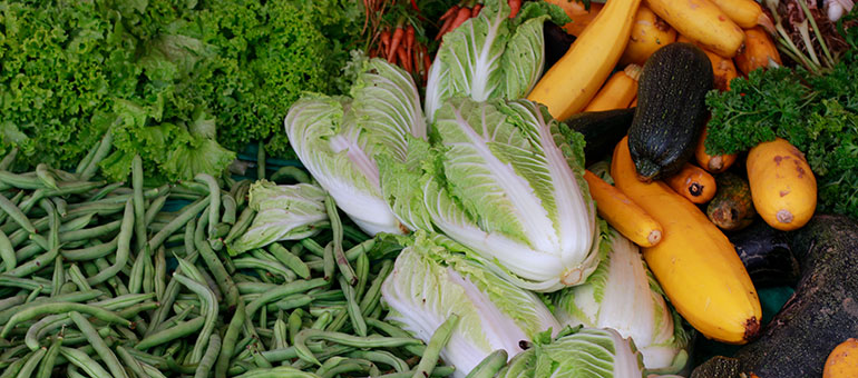 Mixed vegetables in a market in Sri Lanka