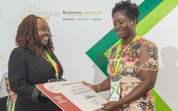 Woman awarded for her work at the Nutrition Africa Investor Forum (NAIF)