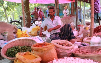 Rural market in Bangladesh